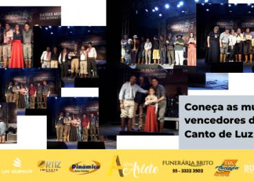 Conheça as Músicas vencedores do 8º Festival Canto de Luz de Ijuí